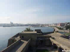 Scorcio di La Coruña dal Castllo de San Antón, #spagna