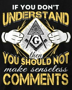 There are brainwashed ignorant people who say and write some utterly preposterous crap about freemasonry that is so far removed from the truth it makes wonder what mind altering delusional drugs there on! Masonic Art, Masonic Temple, Masonic Lodge, Masonic Symbols, Masonic Order, Freemason Symbol, Freemason Tattoo, Masons Masonry, Masonic Tattoos
