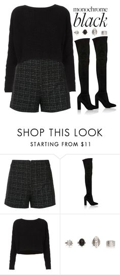 """Mission Monochrome: All-Black Outfit"" by vany-alvarado ❤ liked on Polyvore featuring nk, Gianvito Rossi, Topshop and allblackoutfit"
