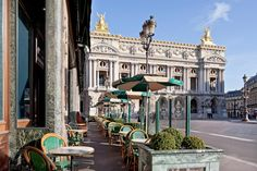 Cafe de la Paix in Paris near the Garnier opera.  Sitting here on a beautiful day is sublime!