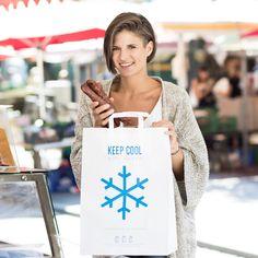 Kühltragetasche KEEP COOL aus Papier / Papiertragetaschen online bestellen Keep Cool, Paper Shopping Bag, About Me Blog, Reusable Tote Bags, Cool Stuff, Videos, Kraft Paper, Paper Board, Sachets