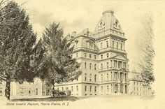 Greystone on a postcard circa 1923, then named the State Insane Asylum at Morris Plains.