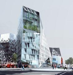 Cristal Riviera competition entry by Périphériques Architectes