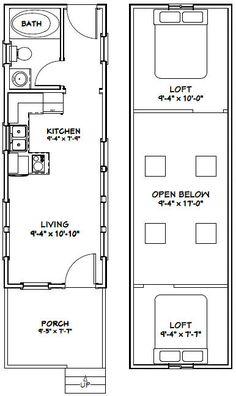 10x28 Tiny House -- #10X28H4A -- 466 sq ft - Excellent Floor Plans