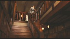 Love the stairs and all the woodwork!  I can't believe it was all for a movie set!