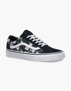 vans old school flowers