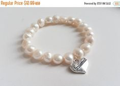 ON-SALE Bridesmaid Bracelet  Freshwater by weddingbellsdesigns