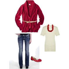 My OU gameday outfit for this weekends game against Mizzou. W/Ivory belt though, not gold.   #OU #gameday #red