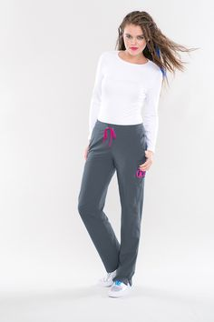 Smitten's HOTTIE pant will have all eyes on you! Available in 9 colors! #smitten #scrubs #medical #uniforms #hospital #nurse #dental #fashion #spring #steel #april