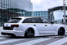 Slammed Audi wagon.  I would drive a wagon if it looked like this.