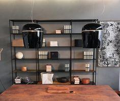 Black #Tiara blown glass suspension fixtures design by #Prandina