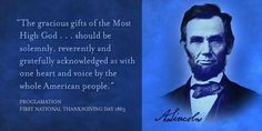 Abraham Lincoln's Thanksgiving declaration to a divided nation