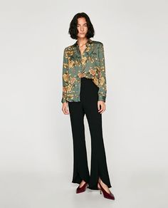Image 1 of GLOSSY BLOUSE from Zara