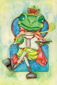 「かえるの王さま」  「The Frog Prince; or, Iron Henry」 Illustration : Shoko.h
