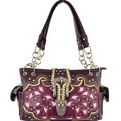 Concealed Carry Western Buckle Tooled Handbag – Handbag-Addict.com