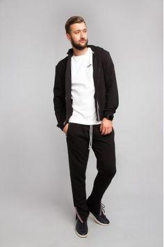Спортивні штани чорного кольору з українським орнаментом Україна c982b8a10ec81