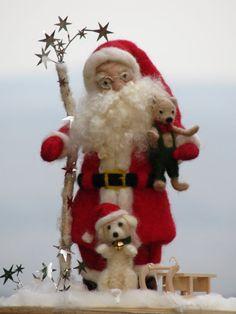 Needle felted Santa Claus by Made4uByMagic on Etsy