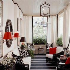 and geometric outdoor porch design (interior porch designs) Pop Ceiling Design, Porch Decorating, Decorating Your Home, Decorating Ideas, Decor Ideas, Modern Porch, Modern Decor, Modern Design, White Porch