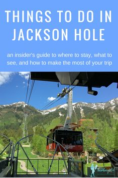 Everything you need to know to plan a trip to Jackson, Wyoming, including: things to do in Jackson Hole, Wyoming; and Jackson Hole Mountain Resort. Plus a two and three day Jackson Hole itinerary. Wyoming Vacation, Yellowstone Vacation, Tennessee Vacation, Grand Teton National Park, Yellowstone National Park, Jackson Hole Mountain Resort, Us Travel Destinations, Travel Diys, Travel Things