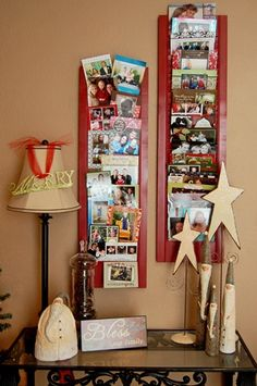 Xmas Card Display.  Ok so this will be first on my list to do . What a great idea no more will  I tape my card on the wall lol!