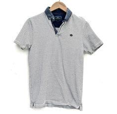 NEXT Boys 100/% Cotton White Polo Shirt//Top Check Trim BNWT 8 years
