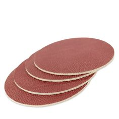 Owen & Fred NFL Football Leather Coasters, Set of 4
