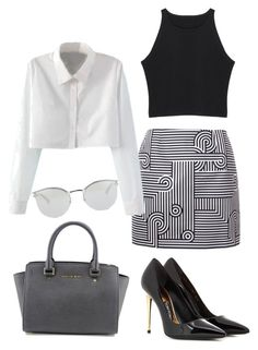 """""""Simple"""" by carlafashion-246 ❤ liked on Polyvore featuring MICHAEL Michael Kors, Tom Ford, Victoria, Victoria Beckham, WithChic and Fendi"""