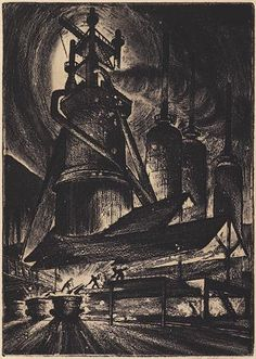 Harry Sternberg (1904-2001) - Blast Furnace, 1946