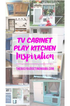 TV cabinet play kitchen inspiration-thebusybudgetingmama