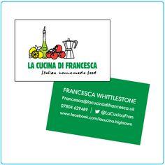 La Cucina di Francesca – business card design – graphic design – Designed by Tree