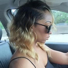 Long wavy bob hairstyle for black women