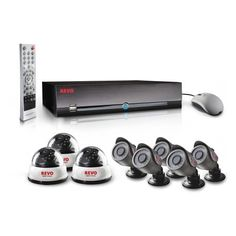 Revo America Professional 16 CH DVR with 2 TB HDD 3x 600 TVL 33' Night Vision Indoor Dome, 5x 600 TVL 33' Night Vision Indoor / Outdoor Bullets by Revo America. $999.99. REVOs Complete 16-channel DVR Security Surveillance features 8 High Resolution cameras built to operate in both indoor and outdoor applications.  The 600 TV lines of resolution provide sharp, clear pictures.  Indoor/Outdoor Weather-resistant day/night cameras come equipped with a mounting bracket, sunshie...