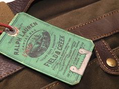 Ralph Lauren / Huntington Canvas and Leather Messenger Bag