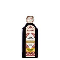 Olej rzepakowy najwyższej jakości - tłoczony na zimno, nierafinowany i nieoczyszczony. Sprawdź teraz! Jack Daniels Whiskey, Sauce Bottle, Whiskey Bottle, Drinks, Omega, Drinking, Beverages, Drink, Beverage