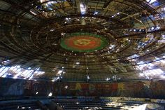 The derelict Buzludzha monument hosts an annual summit of Bulgaria's Socialist Party © Anita Isalska / Lonely Planet