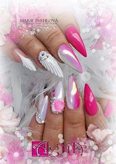 Acrylic nails & Gel design * Summer nails & Shell nails * 3D nail design