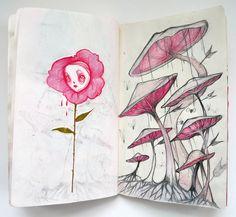 Nightmare Sketchbook by Liza Corbett http://www.inspirefirst.com/2012/11/09/nightmare-sketchbook-liza-corbett/