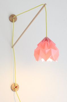 Wall fixture Klimoppe with paper lamp Moth