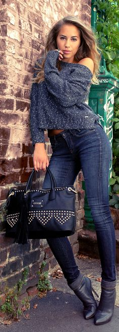 Guess Denim and charcoal shobooties ~ sensational weekend outfit ~ comfy ♥♥