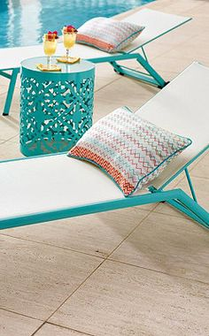 Sun Chaise and Side Table.