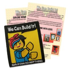 We Can Build It Lego, GIRLS CAN DO ANYTHING Patch