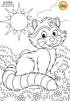 Animals Coloring Pages for Kids - Free Preschool Printables - Životinje Bojanke - Animal Coloring Books by BonTon TV Coloring Sheets For Kids, Cute Coloring Pages, Animal Coloring Pages, Coloring Pages For Kids, Coloring Books, Printable Christmas Coloring Pages, Printable Coloring, Art Drawings For Kids, Colorful Drawings