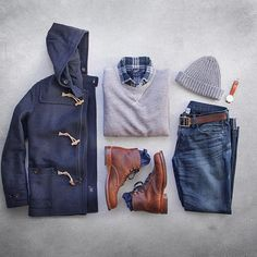 Outfit grid - Duffel coat for winter