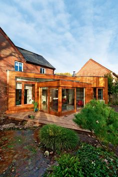 Modern Home Interior Design For The Beginner 1930s House Extension, Brick Extension, Extension Ideas, Rear Extension, Modern Home Interior Design, Interior Architecture, Beautiful Buildings, Beautiful Homes, Cedar Cladding