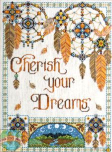 Free Native American Cross Stitch | Cross Stitch Kit ~ Design Works Native American Cherish Your Dreams # ...