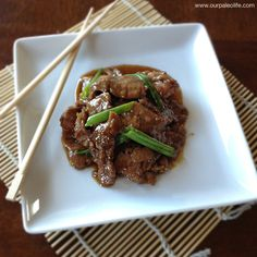 Paleo Mongolian Beef | Our Paleo Life (try cutting the sugar completely - too sweet)