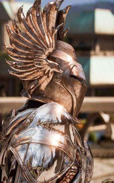 Armor side detail, Tyrius, hero of the Balkans. Medieval Knight, Medieval Armor, Medieval Fantasy, Armadura Medieval, Samurai, Fantasy Armor, Fantasy Weapons, Escudo Viking, Costume Armour