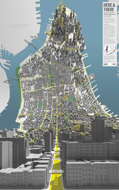 Here & There - Manhattan Downtown - Horizonless Projections by design consultancy BERG