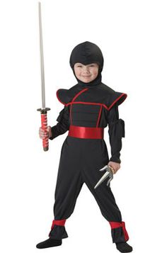 #00121 Now you see him, now you don't! Suit up this Halloween and make a sneak attack on the neighbor's candy stash with this fun and playful costume! Includes: Jumpsuit with attached hood (2) armband