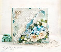 Wild Orchid Crafts: Turquoise card and step-by-step
